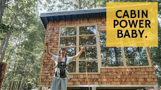 Running Power to the Cabin - Cabin Build 34
