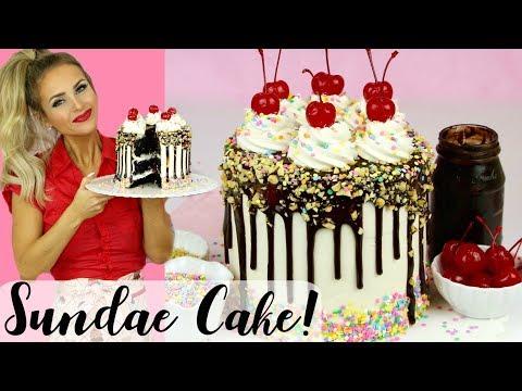 How To Make a Chocolate Fudge Sundae Drip Cake // Lindsay Ann Bakes