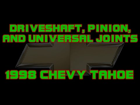 ⭐ 1998 Chevy Tahoe - Replacing The Pinion, seal, And Universal Joint