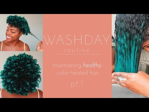 Natural Hair | Wash Day Routine for Healthy Color Treated Hair