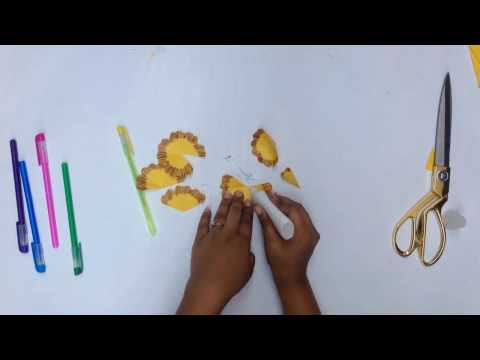 Different rose flower making with chart