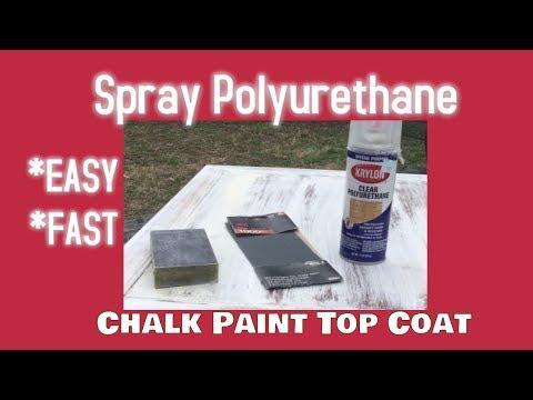 Spray Polyurethane Chalk Paint Sealer-Mantenance Free FAST & EASY