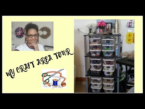 CRAFT AREA TOUR | CRAFT ROOM ORGANIZATION ON A BUDGET