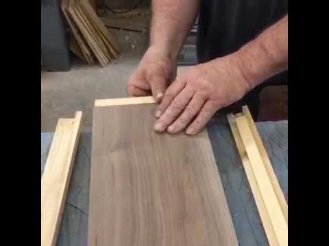 Making a solid wood  panels with a stricken molding Exterior wood door