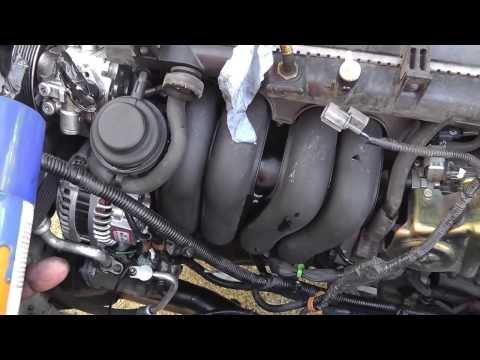 2002 honda crv alternator install part 1
