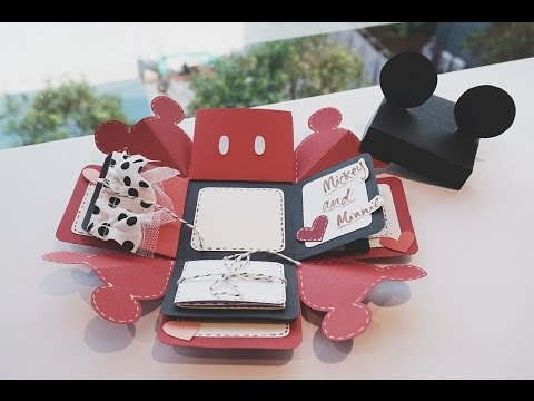 Mickey Mouse Exploding Box Card QUICK TUTORIAL // COLLAB WITH FYI ASIA