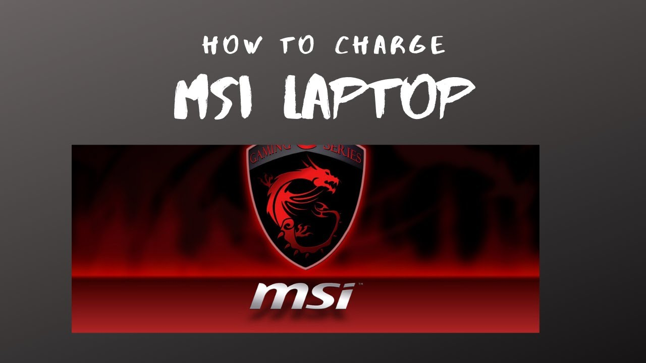 Quick easy FREE fix on Charging your MSI Laptop
