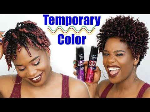 How To Apply Temporary Hair Color Spray | MissKenK
