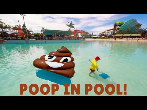 CLEANING POOP IN A PUBLIC POOL - WHITE WATER WORLD