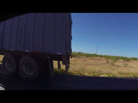 Semi-Trailer Truck blows tire east of Immigration Checkpoint, AZ SR 86, 21 May 2018 GOPR6497