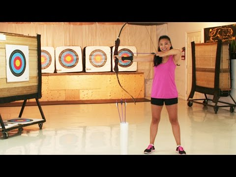 How to Shoot a Bow and Arrow -  My First Beginner Archery Lesson