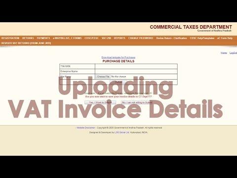 How to upload VAT Invoice details in e-Returns Portal?