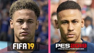 fifa 19 vs pes 2019 player faces Videos - 9tube tv
