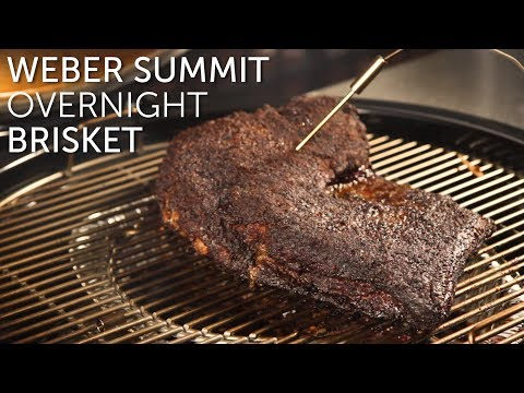 Brisket Overnight on the Weber Summit Charcoal Grill | BBQGuys.com