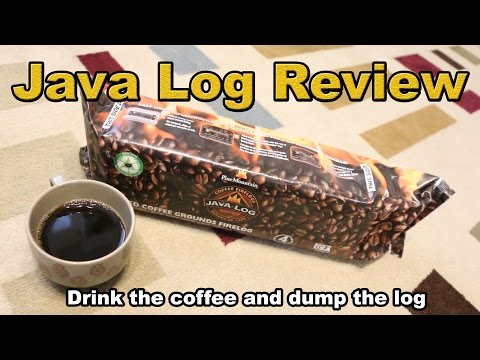 Ridiculous Review: Java Log - recycled coffee grounds