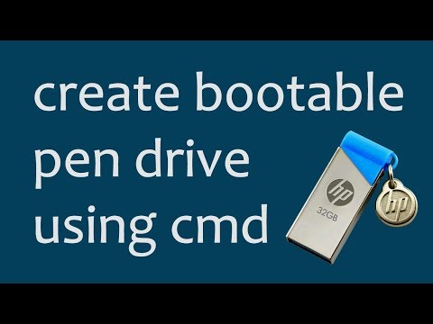 How to create bootable USB pendrive for Windows 7/xp/vista/8/8.1/10