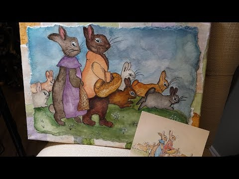 Draw & Watercolour Beatrix Potter Beginner Painting  GIVEAWAY