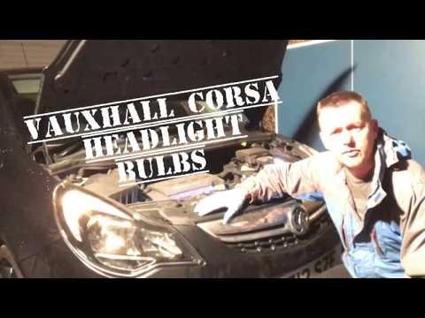 Vauxhall Corsa D 1.2  HeadLight Bulb Change (Facelift Model)