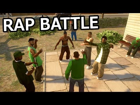 GTA IV - CJ vs OG Loc [Rap Battle] PART 1