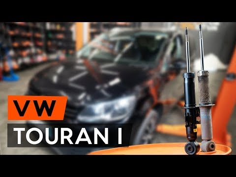 How to replace rear shock absorber onVW TOURAN 1 (1T3)[TUTORIAL AUTODOC]