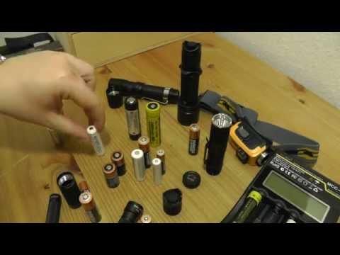 Akkus & Batterien | AAA - AA - CR123 - 18650 | EDC LED Taschenlampen Flashlight