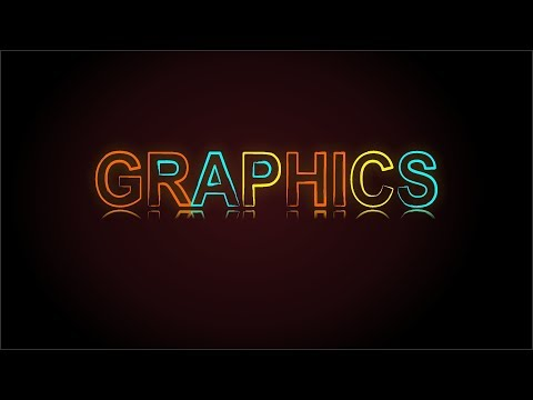 Coreldraw x7 Tutorial - Neon lights Text Effect New Way With AS GRAPHICS