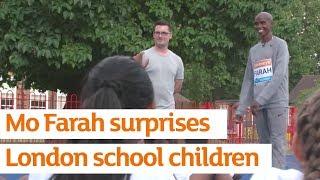Mo Farah surprises London school children | Active Kids | Sainsbury