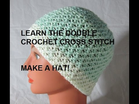Make a Hat! Double Crochet Cross Stitch Pattern