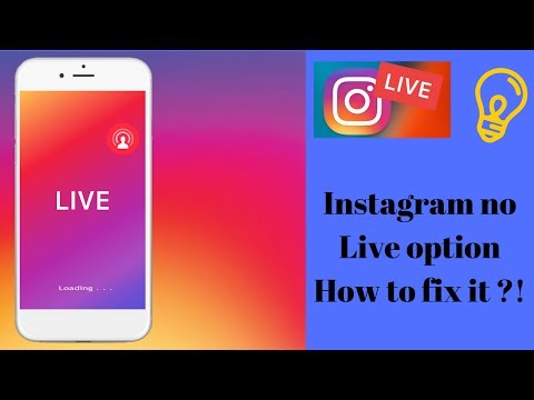 INSTAGRAM NO LIVE OPTION  - How to fix it (ANDROID) TUTORIAL
