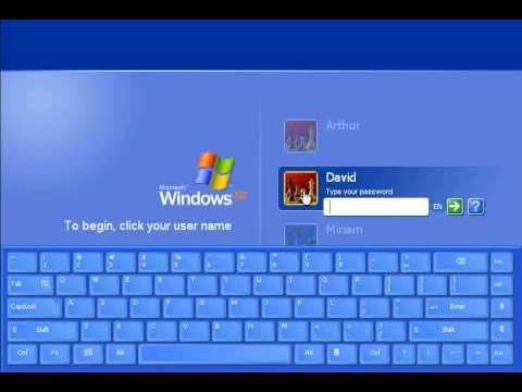 On-Screen Keyboard - EyesBoard Logon Keyboard (XP)