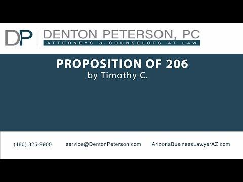 Proposition 206 in Arizona | Denton Peterson, P.C.