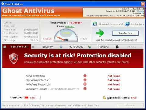 Beware Ghost Antivirus!!!