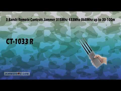 Remote Controls Jammer High Power 10W 3 Antennas 433/434Mhz 868Mhz 315Mhz