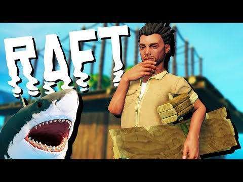 Shark Attacks and Farm Construction! - Raft Gameplay