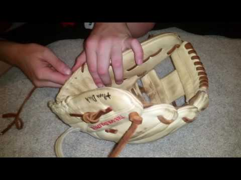 How to take our the heel pad in a baseball glove