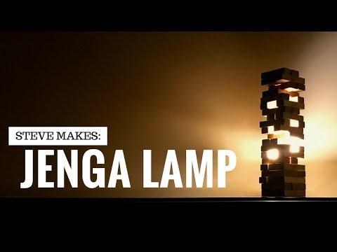 Steve Makes: Jenga Lamp (iPhone controlled)