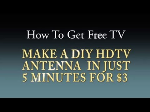 Free HDTV with DIY Antenna for Less Than $3