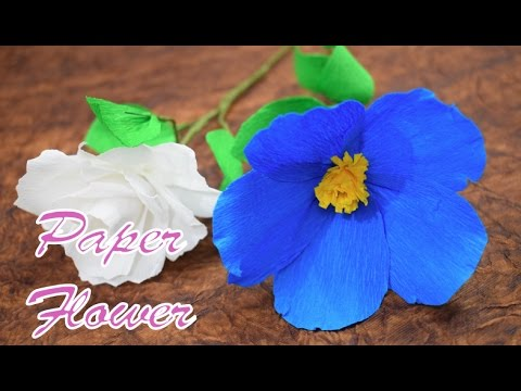 How to Make Crepe Paper Real Flowers at Home - Origami Quick and Super easy way