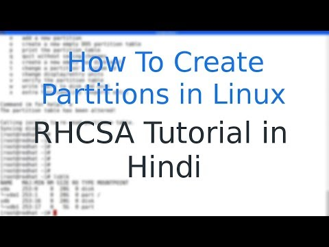 Linux: How to Create Partitions in Linux in Hindi
