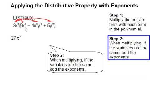 How to Apply the Distribute Property with Exponents