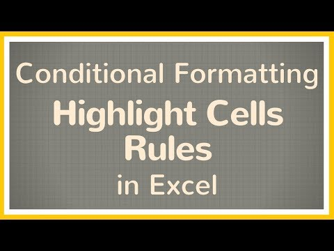 How to Use Highlight Cells Rules in Excel Conditional Formatting - Tutorial
