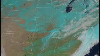 Snow Cover Extending from Gulf of Mexico to Canada