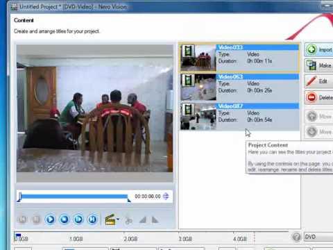 How to make dvd movies using nero 9