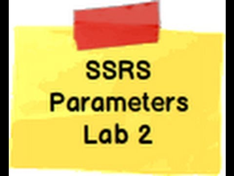 SSRS Step by Step Lab 2 :- How to create input parameters in SQL Server reporting service ?