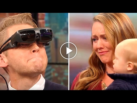Blind man sees wife for the first time
