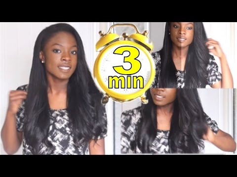 How to Curl Weave With A Flat Iron FAST: 3 minutes