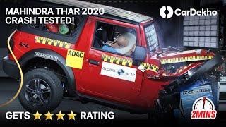 Mahindra Thar Crash Test Video   ⭐⭐⭐⭐ NCAP Score Explained #In2Mins
