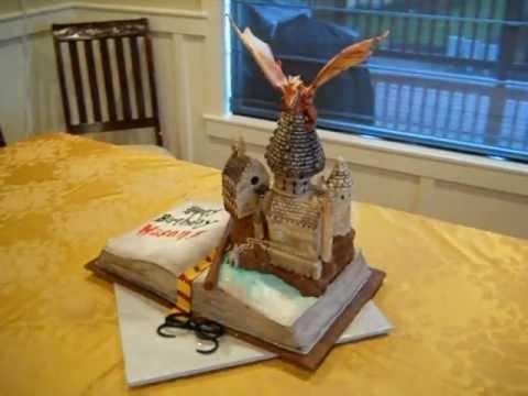 Hogwarts Castle Harry Potter Book Cake