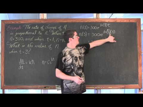 Separable Differential Equations & Growth and Decay Model