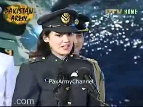 Pakistani Female Military officers @ Pakistan Defence Day Show -.FLV